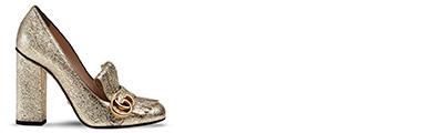 Metallic Leather Shoe